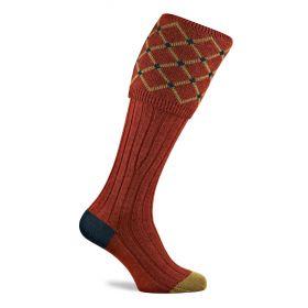 Diamond top Shooting Socks Maple