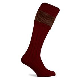 Balfour Shooting Socks Burgundy/Olive