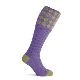 Unisex Charlton Shooting Sock - Sage/Purple