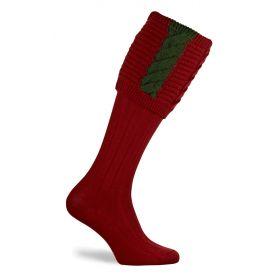 Governor Shooting Socks Deep Red/Hunter