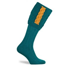 Governor Shooting Socks Turquoise/Gold
