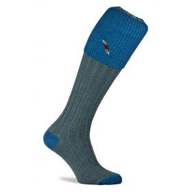 Dartmoor Shooting Socks with Feather Motif Hummingbird