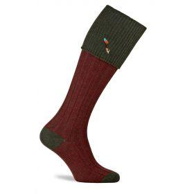 Dartmoor Shooting Socks with Feather Motif Hunter