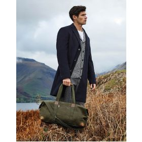 Heritage Waxed Canvas Holdall - Olive