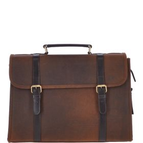 Oxford All Leather Laptop Briefcase
