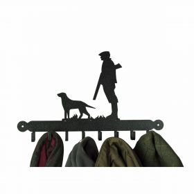Gun Dog and Man Coat Rack