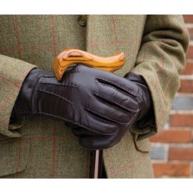 Men's Leather Gloves - Brown