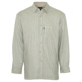 Fleece lined Tattersall Shirt - Olive