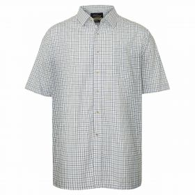 Short Sleeved Summer Tattersall Shirt - Blue Check