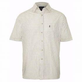 Short Sleeved Summer Tattersall Shirt - Green