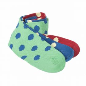 Pack of Three Sock Sets - Green, Blue, Red
