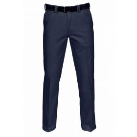 Stretched Cotton Chinos - Navy