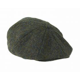 Harris Tweed 8 Piece Cap - Dark Green