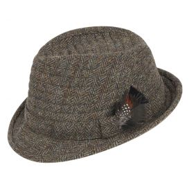 The Orkney Harris Tweed Trilby Hat