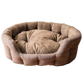Country Tweed Round Dog Bed