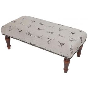 From The Field Upholstered Tapestry Stool