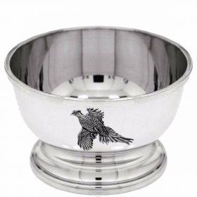 Pewter Pheasant Bowl