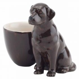 Labrador Egg Cup - Chocolate