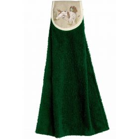 Hanging Towels Spaniel Green