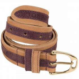 Leather Contrast Belts Purple