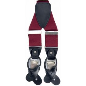 Classic Luxury Braces - Burgundy