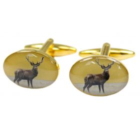 Country Cufflinks Stag