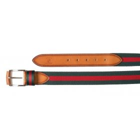 Smart Striped Stretch Belt - Green