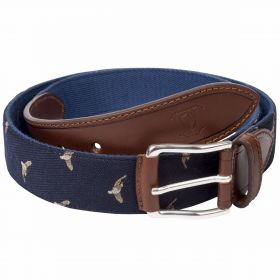 Game Bird Web Belts - Navy