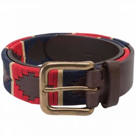 Men's Polo Belt - Red/Navy/Cream