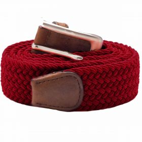Stretch Corded Belts - Burgundy