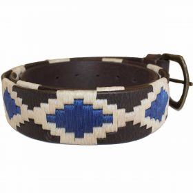 Polo Belts Turquoise/White