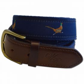 Wingfield Digby Leather and Canvas Belt Pheasant