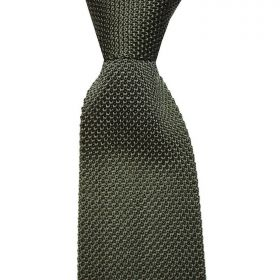 Knitted Silk Tie - Olive