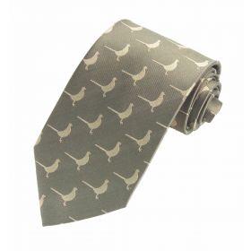 Luxury Woven Tie - Pheasant Green