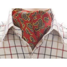 Classic Paisley Cravat Red