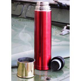 Red Shotgun Shell Flask