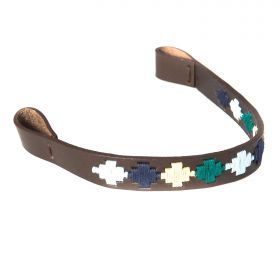 Argentinian Brow Bands - Green/Blue/Navy