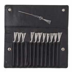 Shotgun Peg Finder in Leather Wallet