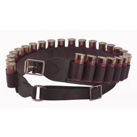 Havana Brown Leather Cartridge Belt Open Loop
