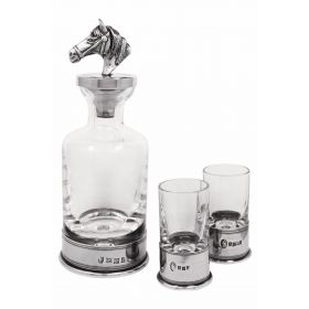 Horse Head Mini Decanter set