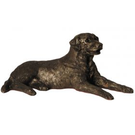 Edward Labrador Bronze - Lying down