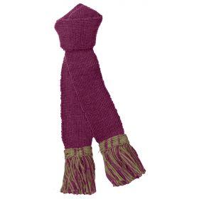 Contrast Wool Garters - Cherry/Sage