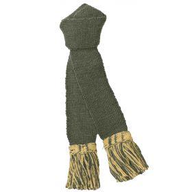 Contrast Wool Garters - Olive/Gold