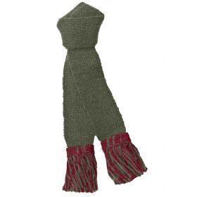 Contrast Wool Garters - Olive/Ruby
