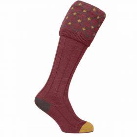 Diamond Top Shooting Sock - Red