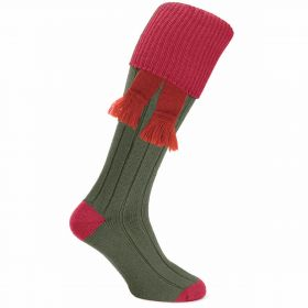 Dorset Contrast Cotton Shooting Socks -Tudor