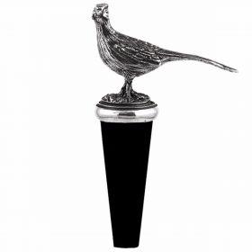 Pewter Bottle Stopper Pheasant