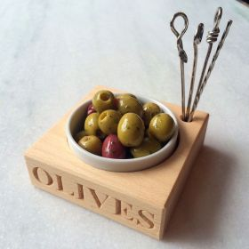 Olive Bowl and Picks
