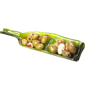 Recycled Wine Bottle Server for Snacks or Nibbles