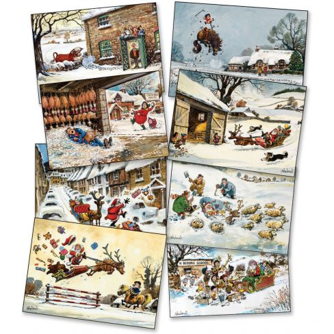 Thelwell Christmas Cards Pack of 8